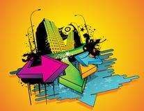 City illustration Stock Image