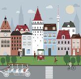 City Illustration. Stock Photos
