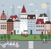 City Illustration. Stock Photos