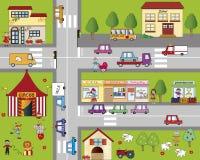 City. Illustration of fun cartoon cityscape Royalty Free Stock Photo