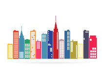 City Illustration Royalty Free Stock Images