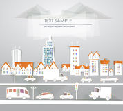 City illustration White city collection Royalty Free Stock Photography