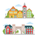 City Images Set Royalty Free Stock Photography