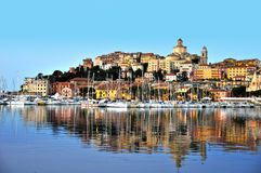 City of Imperia, Liguria, Italy during sunrise Stock Photo