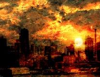 City Impression. Tumultuous Sunrise over City Impression
