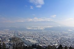City of Innsbruck, Tirol, Austria Royalty Free Stock Photography