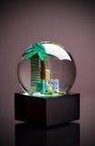 City inside a snow globe Stock Photo