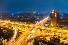 City interchange at night Royalty Free Stock Image