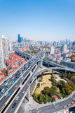 City interchange of viaducts Stock Image