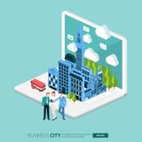 City internet Royalty Free Stock Photography