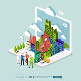 City internet Stock Photo