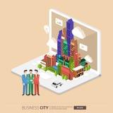 City internet Stock Image
