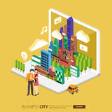 City internet Royalty Free Stock Images