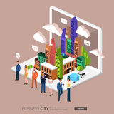 City internet Royalty Free Stock Photos