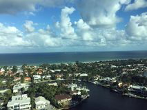 City, Intracoastal, Ocean, and Sky Stock Image