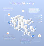 City isometric map Stock Images