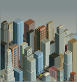 City-isometric vector Stock Image