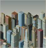 City-isometric vector Royalty Free Stock Photos
