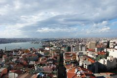City of Istanbul from Galata Tower, a pa Stock Photography