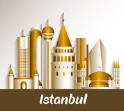 City of Istanbul Turkey Famous Buildings Royalty Free Stock Photo