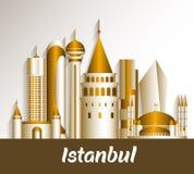 City of Istanbul Turkey Famous Buildings. Editable Vector Illustration vector illustration