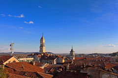 The city of Ivrea, Piedmont, Italy Stock Photo