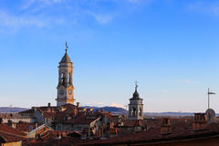 The city of Ivrea, Piedmont, Italy Stock Photography