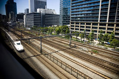 City of Japan Tokyo. A view on a city.Shinkansen Stock Image