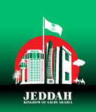 City of Jeddah Saudi Arabia Famous Buildings Royalty Free Stock Photo