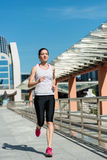 City jogging Stock Photography