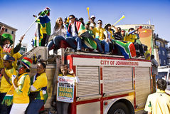 City of Johannesburg - United 4 Bafana. Soccer Fans Celebrating - United 4 Bafana Stock Image
