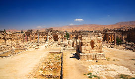 City of Jupiter's temple, Baalbek, Lebanon Stock Photos