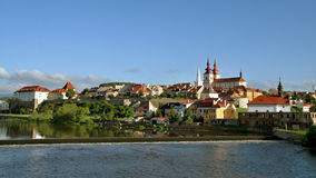 City Kadaň, Czech Republic. General view of the historic city. Kadan, a former royal town in Ústí region on the left bank of the river Eger, an important stock photography