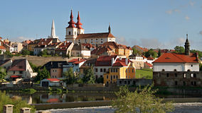 City Kadaň, Czech Republic. General view of the historic city. Kadan, a former royal town in Ústí region on the left bank of the river Eger, an important royalty free stock photo