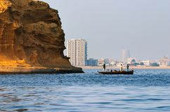 City of Karachi, Pakistan. Port area Royalty Free Stock Images