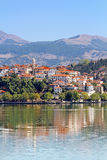 City Kastoria and Lake Orestiada Stock Images