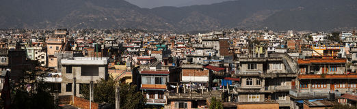 The city of kathmandu in the kathmandu valley Royalty Free Stock Photography