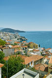 City of Kavala in Greece stock image