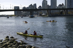 City kayaking Royalty Free Stock Photography