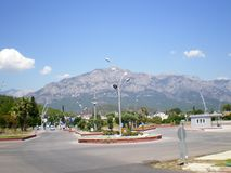 City of Kemer. View of the Taurus Mountains. Turkey stock photo