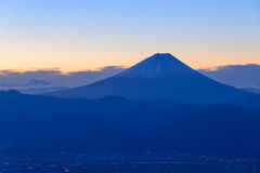 The city of Kofu and Mt.Fuji Stock Photos