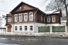 The city of Kostroma-a two-Storey house is one of the most common types of urban `semi-stone` building vtor. floor. XIX century. In eclecticism forms. The main Stock Photo