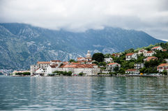 City of Kotor. In the Gulf of the Sea Stock Photography
