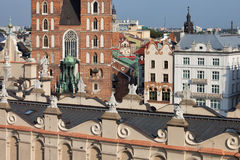 City of Krakow Historic Architecture of the Old Town Royalty Free Stock Photography