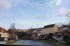 The city of Krumlov Stock Photography