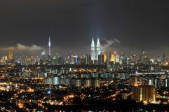 City of Kuala Lumpur. Night skyline of Kuala Lumpur, MALAYSIA royalty free stock image