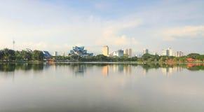 The city of Kuala Lumpur from Titiwangsa lake Stock Images