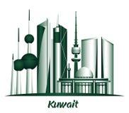 City of Kuwait Famous Buildings. Editable Vector Illustration vector illustration