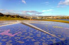 The city of La Coruna stock photography