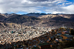 City La Paz in Bolivia Royalty Free Stock Images